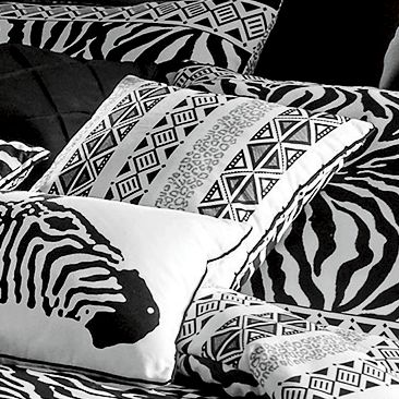 Zebra Chic Pintuck Pillow
