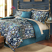 Morocco Comforter Set, Decorative Pillow and Window Treatments