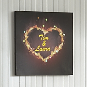personalized fire heart led canvas