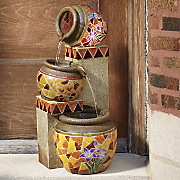 Mosaic Pots Fountain