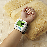 Color-Indicating Wrist Blood Pressure Monitor
