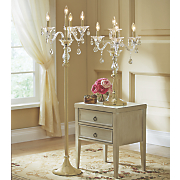 crystal floor lamp candelabra