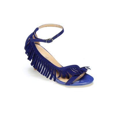 Side Fringe Sandal by Midnight Velvet