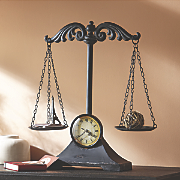 decorative scale clock