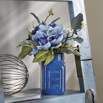 Milk Jar with Flowers