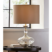 Footed Glass Table Lamp