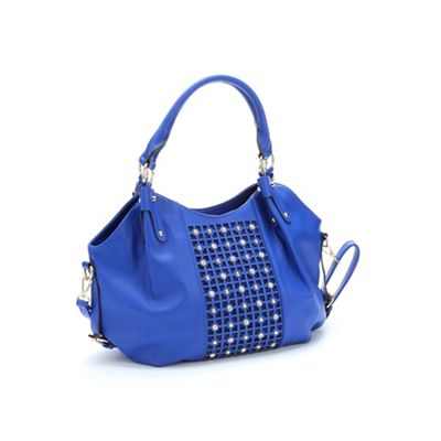 Rhinestone and Stud Hobo Handbag