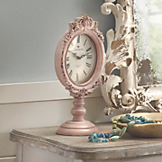 pink table clock