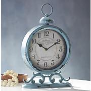 blue table clock