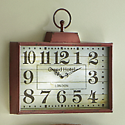 Red Retro Clock