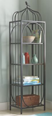 4 Tier Black Shelf From Country Door Ni734098