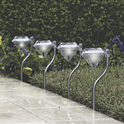 Solar Diamond Pathway Lights
