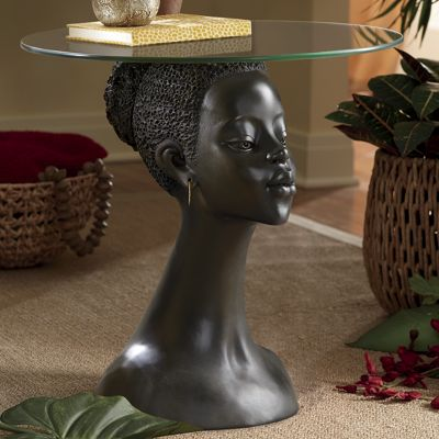 African Woman Table From Seventh Avenue Di734423