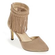 Lulu Ankle Fringe Heel by Monroe & Main