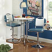 retro swivel bar stool