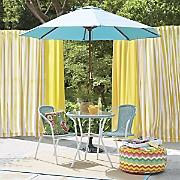 3-Piece Wicker Bistro Set and Market Umbrella
