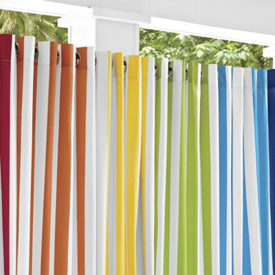 Striped Outdoor Curtain Panels