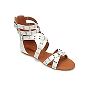 Studded Triple Buckle Gladiator by Monroe and Main