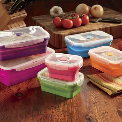 Set of 6 Assorted Silicone Storage Containers