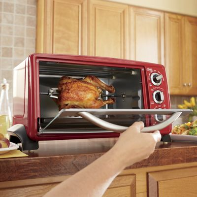 Ginnys Brand 6 Slice Toaster Oven With Rotisserie From