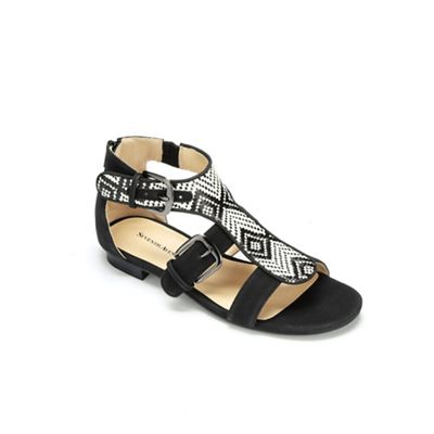 Exotic Woven Gladiator Shoe by Seventh Avenue