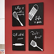 4-Piece Kitchen Canvas Wall Art Set