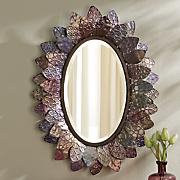 glowing leaves mirror