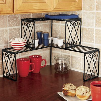 Diamond Scroll Corner Shelf