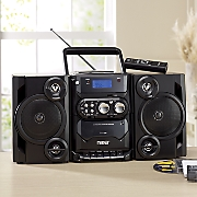 Portable Boom Box with AM/FM Radio and Cassette Player by Naxa