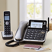 Corded/Cordless Phone System with Answering Machine, Caller and Call Waiting by At&T