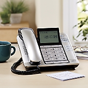 corded desktop phone with caller id by rca
