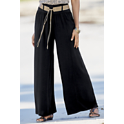 belted wide leg pant 65