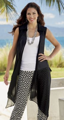 Chic Sleeveless Jacket