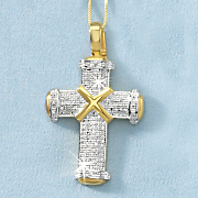 Men's Cross Diamond Pendant