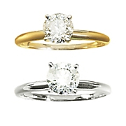 1 CT Diamond Gold Solitaire Ring