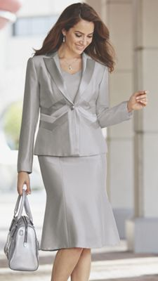 Sleek Silver Suit