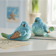 Set of 2 Blue and Green Birds