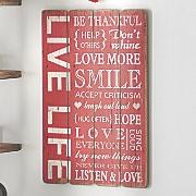 Live Life Wall Plaque