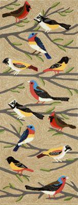 Hand-Tufted Birds Mat and Runner