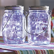 set of 2 mason jar lanterns