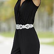 Bead/Fabric Stretch Belt