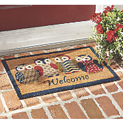 owl welcome mat