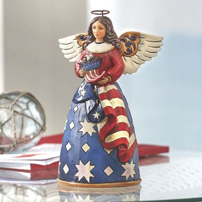 Patriotic Angel Figurine By Jim Shore From Country Door