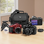 18 mp  40x optical zoom digital camera bundle by polaroid