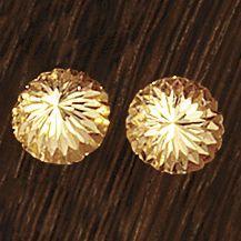 14K Gold Diamond-Cut Button Post Earrings