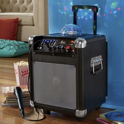 Rechargeable Tailgate Speaker with Disco Light by Qfx