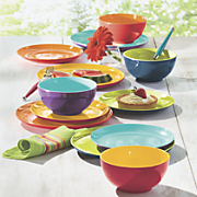 12-Piece Assorted Mighty Melamine Dinnerware Set