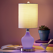color changing lamp with usb port