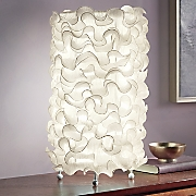 Ivory Ruffle Table Lamp