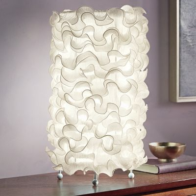 Ivory Ruffle Table Lamp